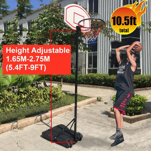 Professional Adults Kids Indoor Mobile Basketball Stand Hoop Outdoor Sports Adjustable Shooting Rack Basket Rim Backboard Gear