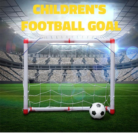 Children's Simulation Mini Soccer Puzzle Toys 126cm Football Goal with Ball Set Kids Outdoor Sports Educational Toys Boys Gift