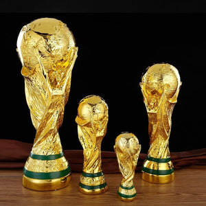Imitation Golden Resin Award Trophy World Football Trophy Home Office Decoration Soccer Fan Boy Birthday Gift Accessories Modern