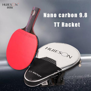 Huieson Nano Carbon 9.8 Table Tennis Racket Training Ping Pong Bat for Fast Attack