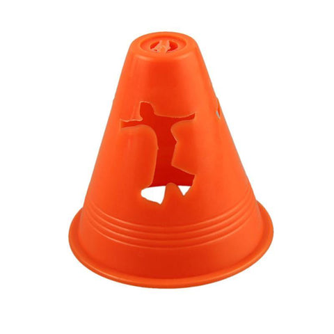 20 PCS Human-figure Hole Anti-Wind Slalom Cones Marker Roller Skating Marking Cups Windproof Skate Pile Cup Roller Skating Toast - XFMSports