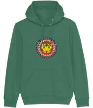 Load image into Gallery viewer, Madhubani Sun Men's Hoodie (Organic Cotton +Recycled Polyester)