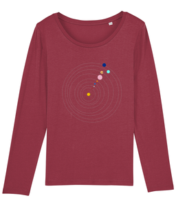 Long Sleeve Jersey Shirt Solar System (Organic Cotton)