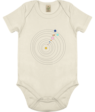 Load image into Gallery viewer, Baby Onesie Solar System (Organic Cotton)
