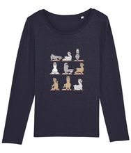 Load image into Gallery viewer, Llama Yoga Long Sleeve T-Shirt Women (100% Organic Cotton)