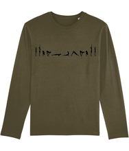 Load image into Gallery viewer, Long Sleeve T-Shirt Sun Salutations (Organic Cotton)