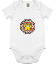 Load image into Gallery viewer, Baby Onesie Madhubani Sun (Organic Cotton)