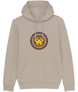 Madhubani Sun Men's Hoodie (Organic Cotton +Recycled Polyester)