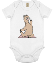 Load image into Gallery viewer, Yoga Llama Baby Onesie (Organic Cotton)