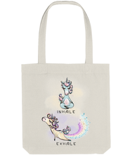 Load image into Gallery viewer, Tote Bag Yoga Unicorn (Recycled Cotton + Recycled Polyester)