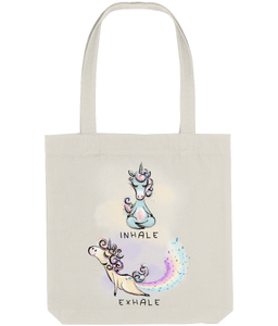 Tote Bag Yoga Unicorn (Recycled Cotton + Recycled Polyester)