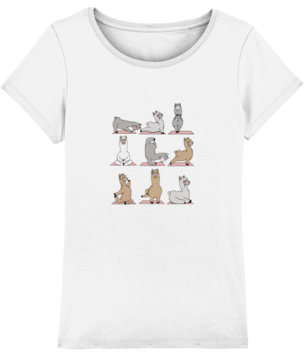 Llama Yoga Women T-shirt (100% Organic Cotton)
