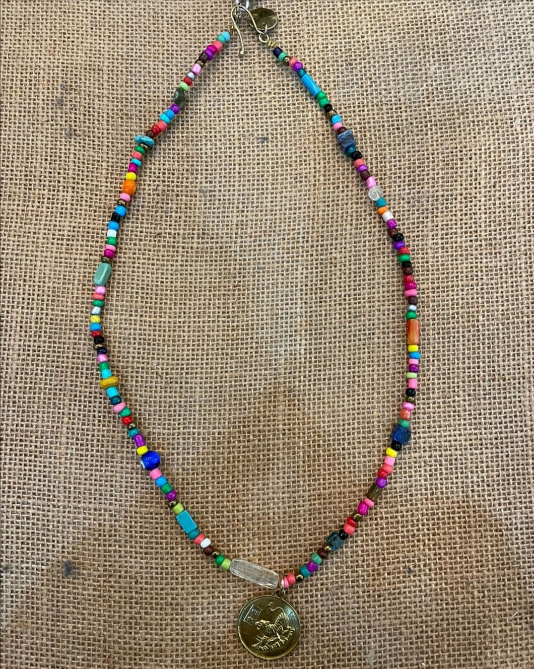Beryl Dingemans - Colourful Beaded Lioness Necklace