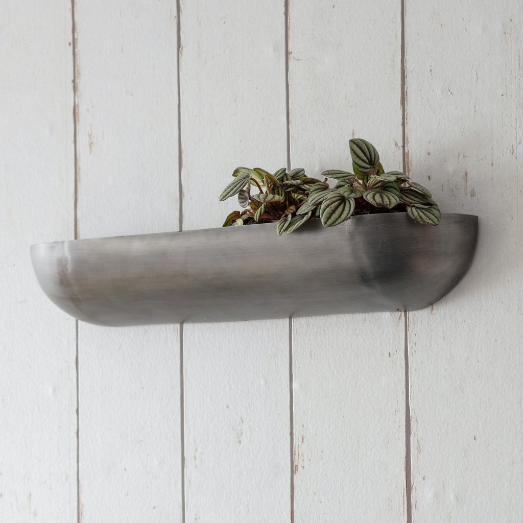 Large Metal Wall Trough