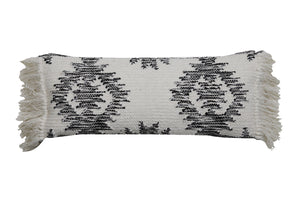 Nordic Oblong Black and White Cushion