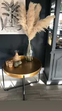 Antique Bronze Tray Table with Stand