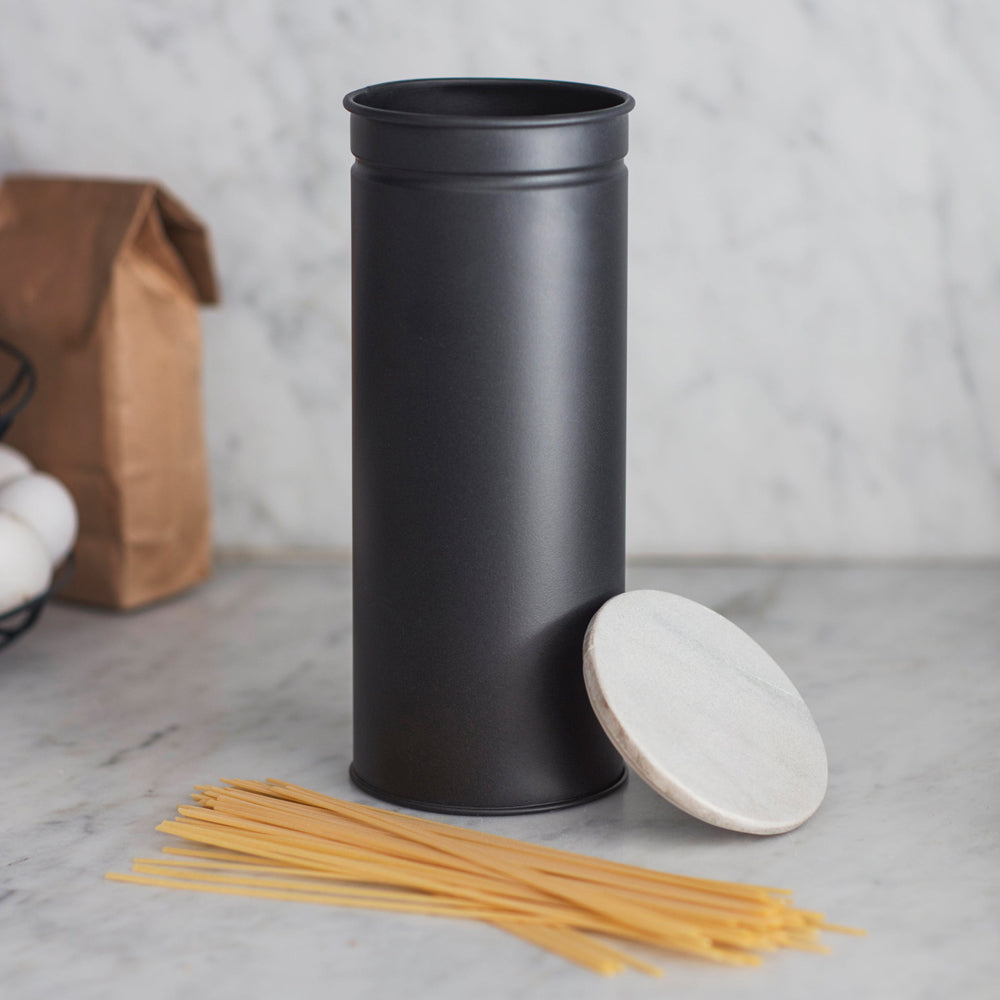 Bettys Barn Interiors | Brompton Spaghetti Canister with Marble Lid