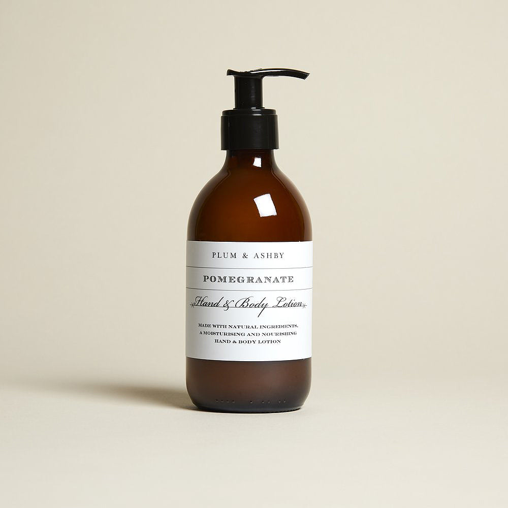 Plum & Ashby - Pomegranate Hand & Body Lotion at Betty's Barn Interiors