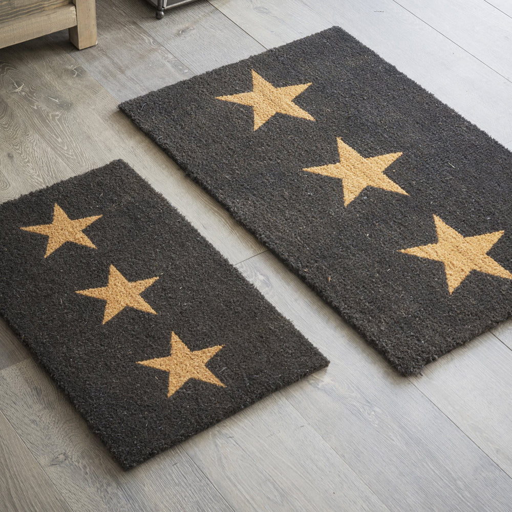 Bettys Barn Interiors Doormat with 3 Stars pattern - small and large