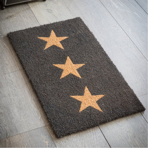 Bettys Barn Interiors Doormat 3 Stars crafted with Coir