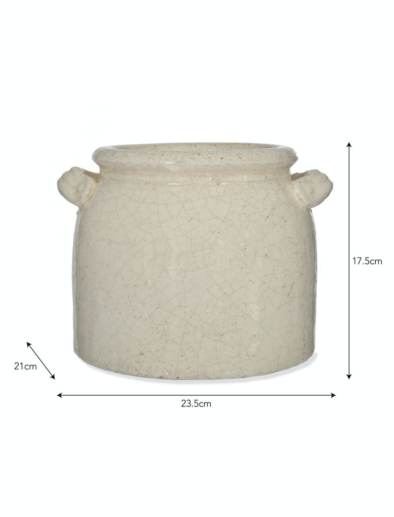 Ceramic Ravello Double Handels Pot