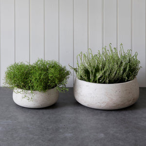 Cement Set of 2 Stratton Bowls