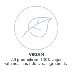 Vegan skin care with no animal-derived ingredients.