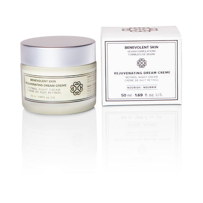 Bestselling anti aging night cream with retinol is also vegan and cruelty free!