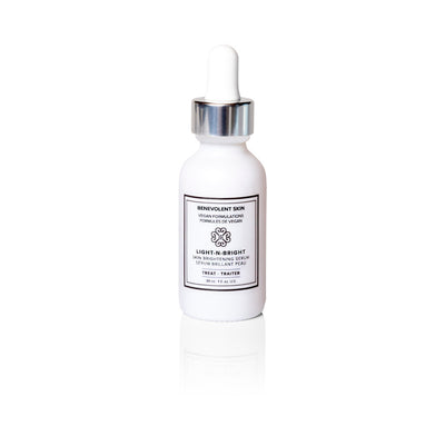 This face brightening serum helps to lighten complexion and even out skin tone and dark spots