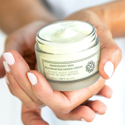 This powerful retinol anti aging cream works as you sleep and is also vegan and cruelty free!