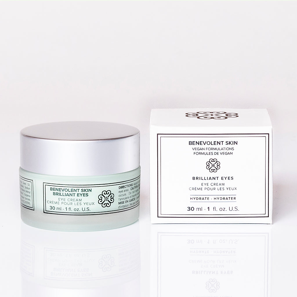 Vegan eye cream that targets dry skin around the eyes and helps tighten skin under eyes.