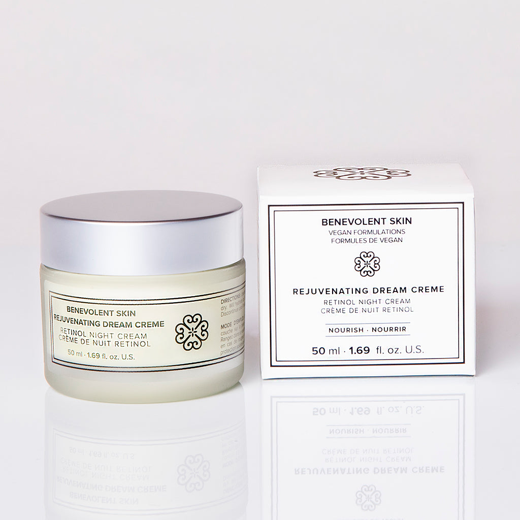 This retinol night cream works as you sleep to improve skin tone and texture.