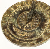 Solid Brass Colonial Sundial (1820)