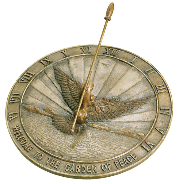 Cast Resin Peace Dove Sundial (#2176) - Garden Sundials