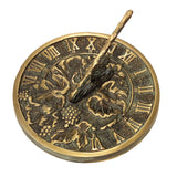 Solid Brass Grapevine Sundial (2306)