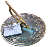 "Solid Brass Grow Old With Me Sundial 10"" Dia. (#2308) - Garden Sundials - 3"