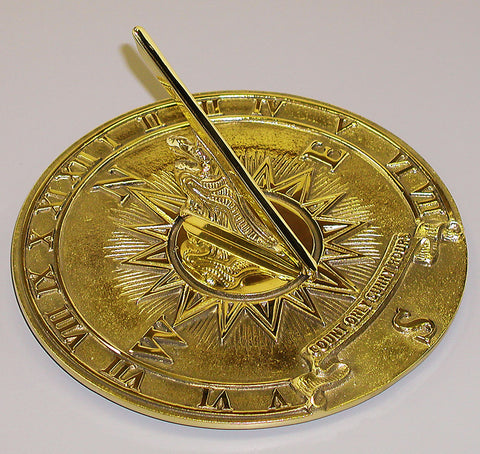 "Solid Brass Nautical Sundial 8.5"" Dia. (#2314) - Garden Sundials"