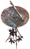 "Solid Brass Season Cycle Sundial 10.5"" Dia. (#2337) - Garden Sundials - 2"