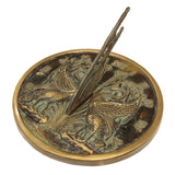 "Solid Brass Swan Sundial 10"" Dia. (#2338)"
