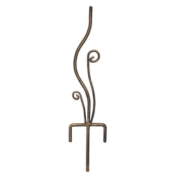 Wrought Iron Flowerbed Pedestal Base W/Faux Aged Brass Finish (#B109)