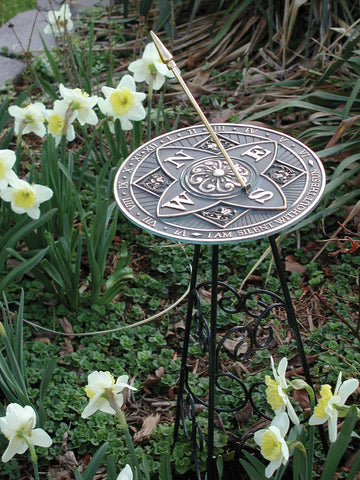 Wrought Iron Scrollwork Pedestal Base (#B53) - Garden Sundials - 2