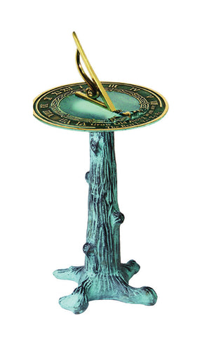 Cast Iron Tree Trunk Pedestal Base (#B65) - Garden Sundials