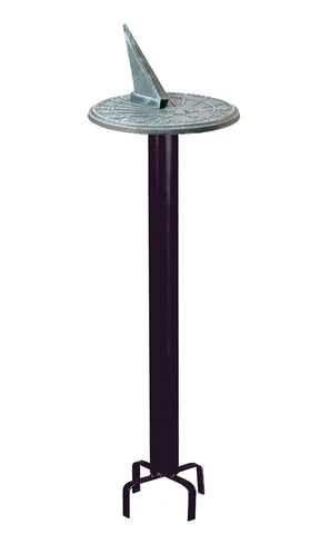 Wrought Iron Black Classic Pedestal Base (#B80) - Garden Sundials