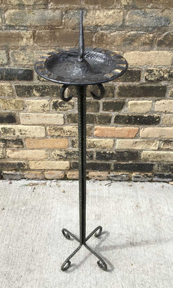 Hammered Steel Pedestal -no spikes  - One Of A Kind (#B82S) - Garden Sundials - 1