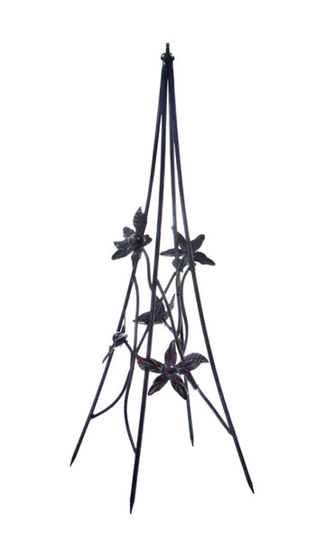 Wrought Iron Floral Pedestal Base (#B86) - Garden Sundials - 1