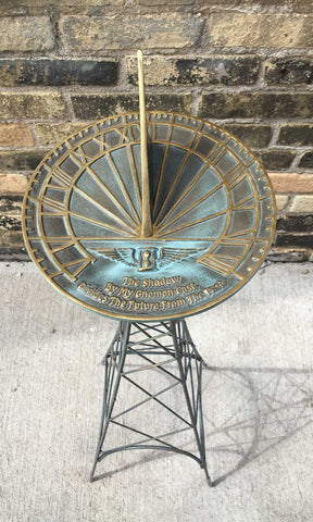 La Tour Sundial Pedestal  - One Of A Kind (#OK2) - Garden Sundials - 2