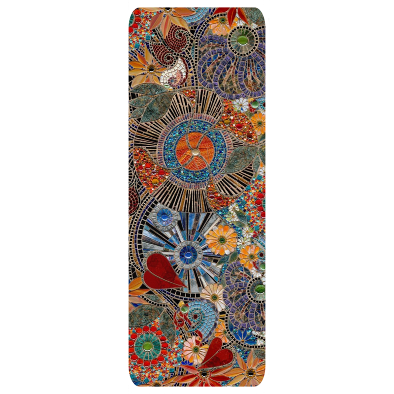 "AB ""Kristi"" Fine Art Mosaic Yoga Mat ""Let there be love"" by Alex Bunch"