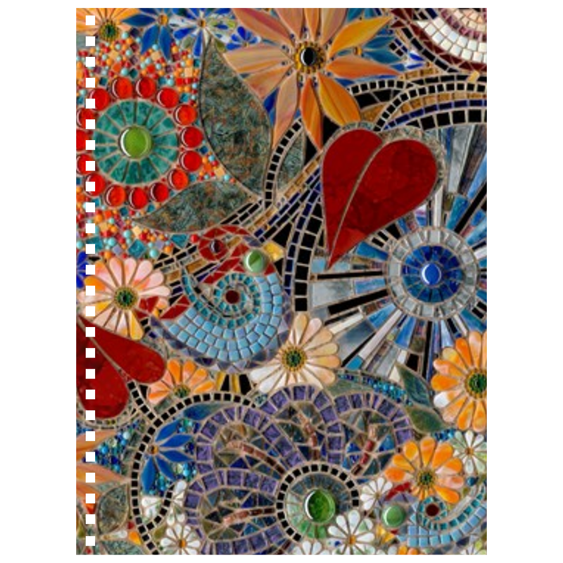 AB Fine Art Glass Mosaic Notebook