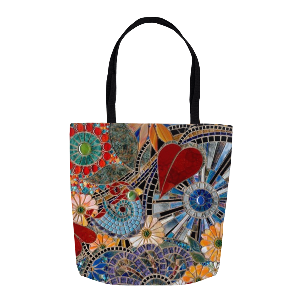 AB Fine Art Glass Mosaic Tote Bag