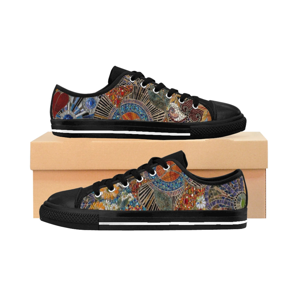 AB Women's Fine Art Glass Mosaic Sneakers